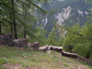 4. L'estremità dei trinceramenti sulla cresta del vallone verso Pré Saint Didier