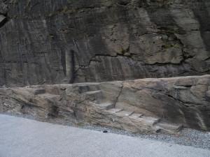 6. Possibile attracco di natanti fluviali a lato della Strada Romana delle Gallie a Donnas.