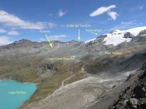 02. Zoom della foto precedente sugli obiettivi della escursione e gli elementi di contorno.