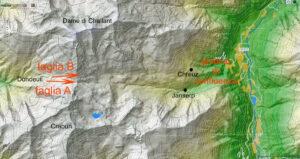 0. Modello del vallone mediante immagine da satellite.