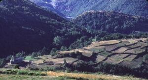 1.Ex campi di grano terrazzati a Moron, Saint-Vincent.