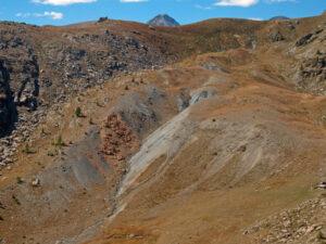 Panoramica della faglia dal Bec Barmasse verso il Bec Raty.