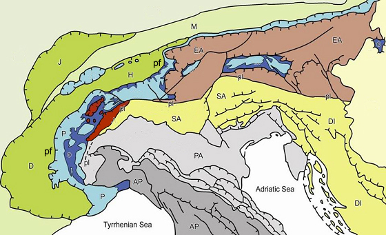 Carta geologico-strutturale dell'arco alpino occidentale