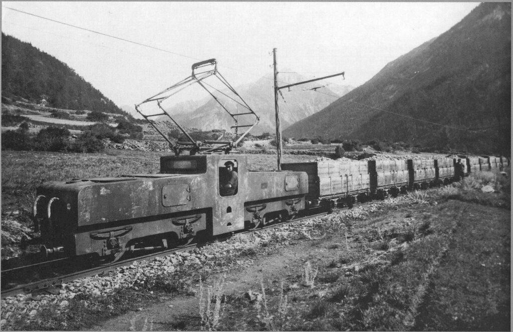 """Una delle locomotive fornite alla Cogne dalle Officine Savigliano (Castiglion, 1998). Venivano dette """"coccodrilli"""" per la loro andatura un po' animalesca."""