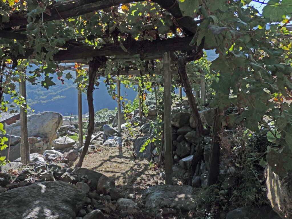 In questa zona i blocchi di pietra sono arrotondati e non si prestano ad ardite costruzioni.