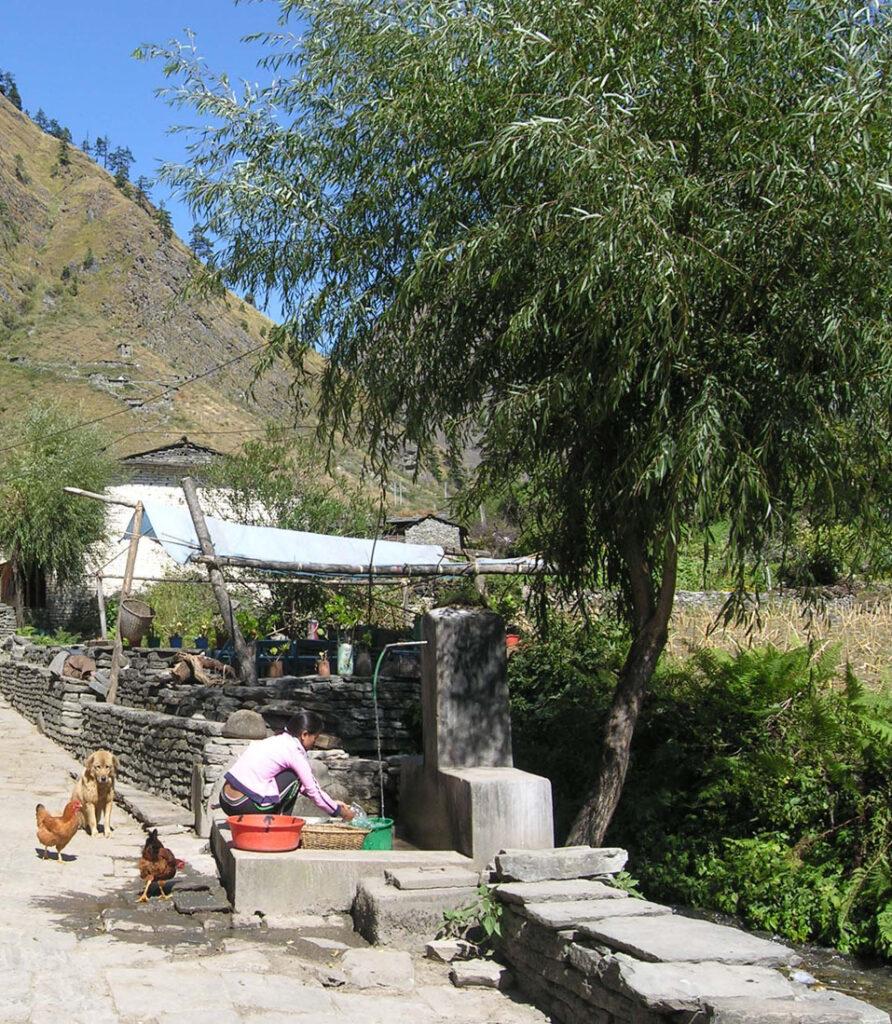 05. Lavaggio alla fontana, fra cani e galline. Ma l'acqua sarà pulita?