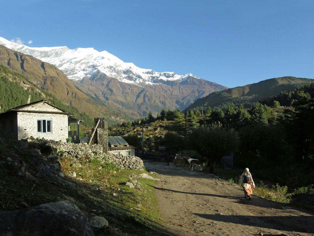 14. Di buon mattino, ci si avvia al lavoro verso l'alta valle, dove più numerosi sono i turisti.